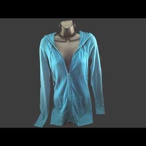 Juicy Couture Blue Zip Up Hoodie S